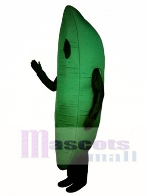 Green Bean Mascot Costume Vegetable