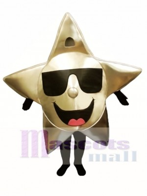 Star with Shades Mascot Costume Christmas Xmas