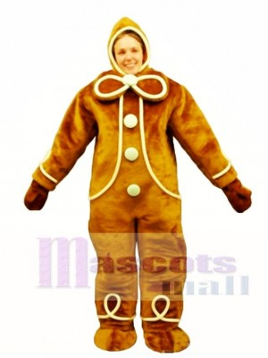 Ginger Bread with Hood Mascot Costume People
