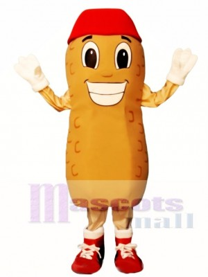 Home Run Peanut with Hat & Shoes Mascot Costume Vegetable