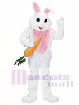Easter White Bunny Mascot Costume Animal