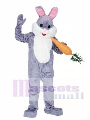 Easter Deluxe Grey Bunny Mascot Costume Animal