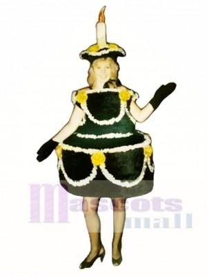 Black Cake Mascot Costume