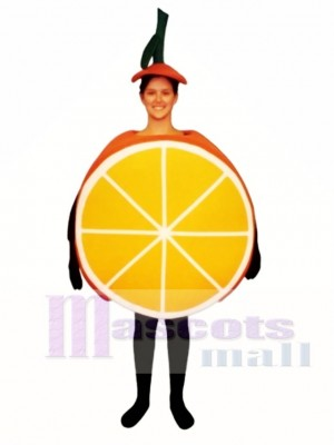 Sliced Orange Mascot Costume Fruit