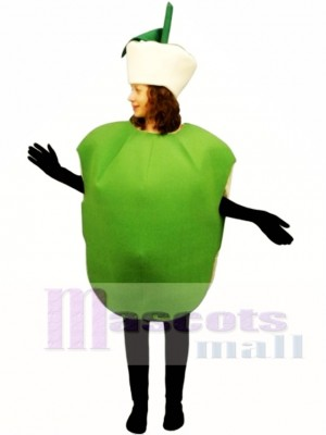 Green Apple Mascot Costume Fruit