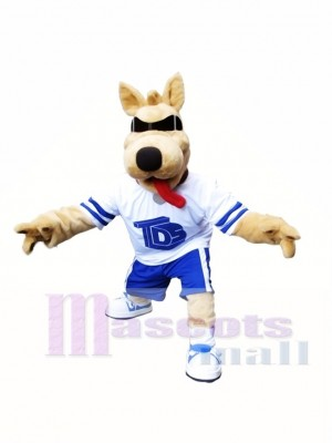 Bart Dog Mascot Costume Dog with SunGlasses Mascot Costume Animal Cartoon