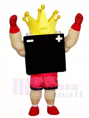 Black Battery King Mascot Costumes
