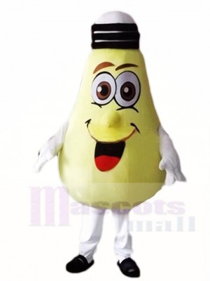 Big Yellow Lamp Light Bulb Mascot Costumes