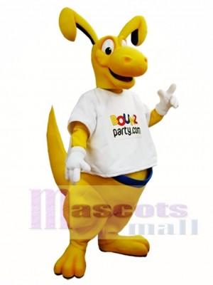 Yellow Kangaroo Mascot Costume Roo Mascot Costumes Animal