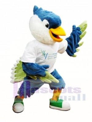 Royal Blue Head Bird Mascot Costumes Bird