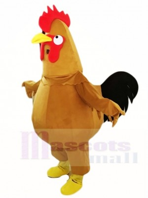 Brown Chicken Cock Rooster Mascot Costumes Poultry Animal