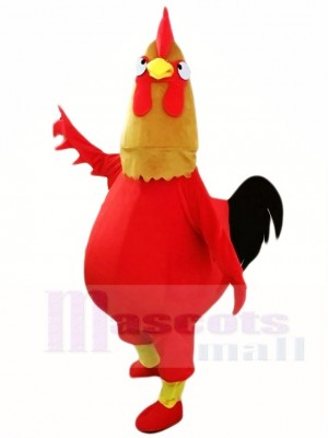 Red Chicken Cock Rooster Mascot Costumes Poultry Animal