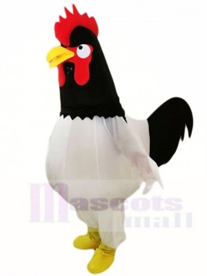 Black Head White Chicken Cock Rooster Mascot Costumes Poultry Animal