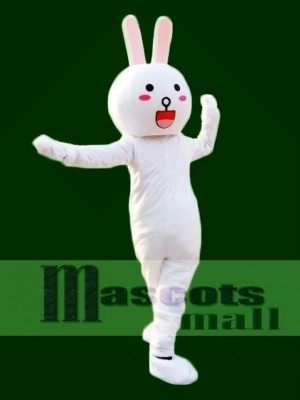 Round Eyes Cony Rabbit Bunny Mascot Costumes Line Town Friends