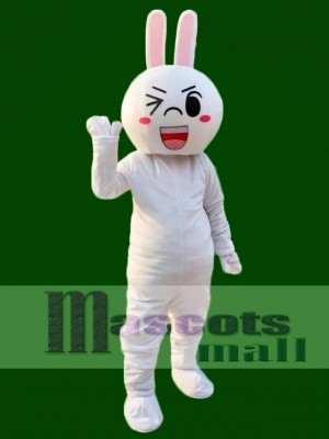 Wink Eyes Cony Rabbit Bunny Mascot Costumes Line Town Friends