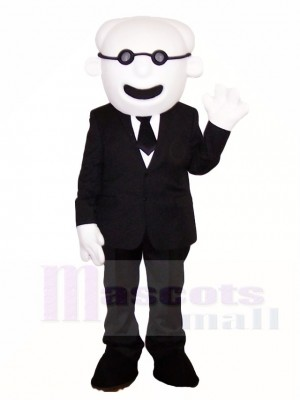 Old Man in Suit Mascot Costumes People