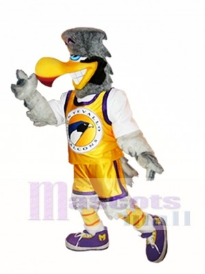 Light Gray Falcon Mascot Costume Light Grey Hawk Mascot Costumes Animal
