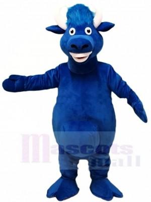 Blue Bull Mascot Costumes Farm Animal