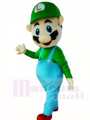 Luigi Mascot Costumes from Super Mario Brothers Cartoon