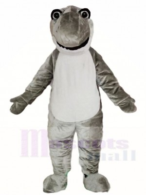 Cute Grey Shark Mascot Costumes Sea Ocean