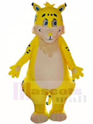 Yellow Tiger Mascot Costumes Animal