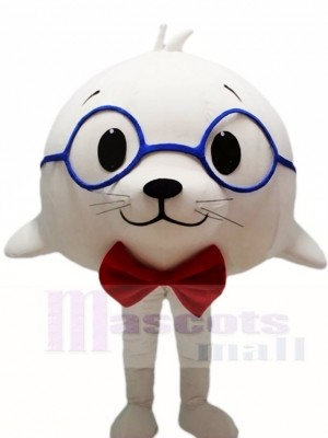 Cute White Sea Lion Seal Mascot Costumes Animal