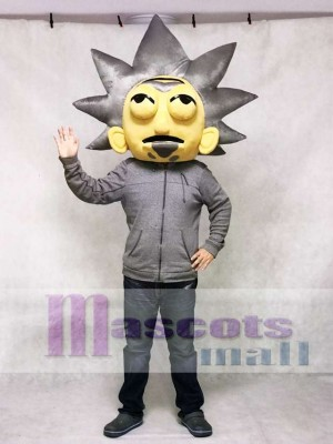 ONLY HEAD of Mad Scientist Rick Sanchez from Rick and Morty Mascot