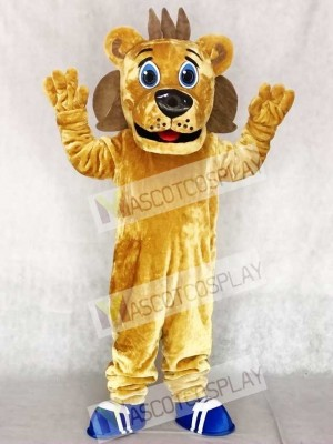 Cute Sports Coaching Lion Mascot Costumes Animal