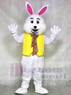 Wendell White Vest Rabbit Easter Bunny Mascot Costumes Animal