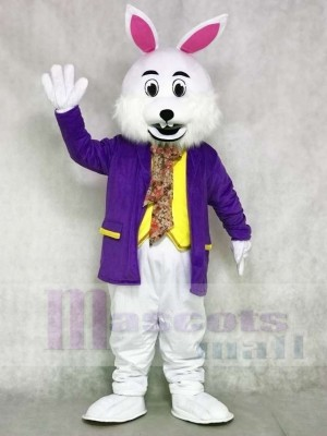 Wendell Purple Shirt Rabbit Easter Bunny Mascot Costumes Animal