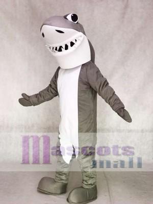 Gray and White Shark Mascot Costumes Ocean