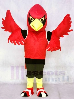 Red Cardinal with Vest Mascot Costumes Bird Animal