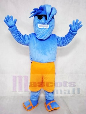 Willy the Wave Blue Waves with Sunglasses Mascot Costume