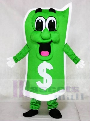 Green US Dollar Bill Mascot Costumes