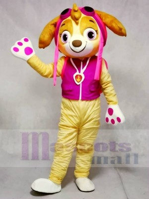 Paw Patrol Skye Beige Face Pink Dog Mascot Costumes Animal