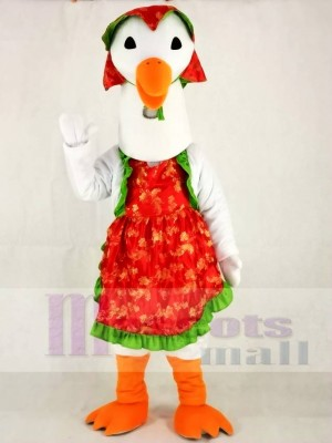 Mother Goose with Hat Mascot Costume Poultry