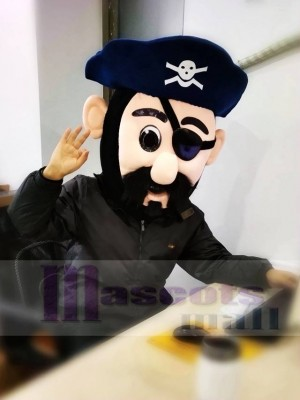 Captain Blythe Pirate Mascot Head ONLY in Navy Blue