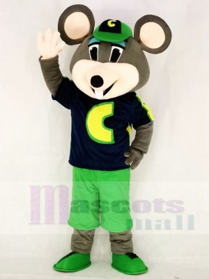 Chuck E. Cheese Mascot Costumes Fast Food Promotion Cheerleaders