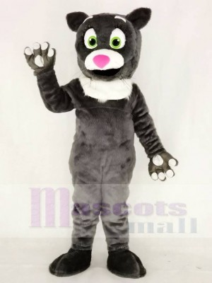 Hairy Gray Cat Mascot Costumes Animal