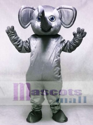 Grey Alabama Elephant Mascot Costume Animal