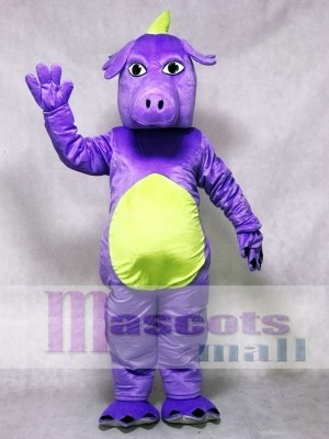 Purple Whimsical Dragon Mascot Costume Animal