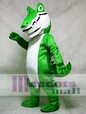 Adult Green Alligator Crocodile Gator Mascot Costume Animal