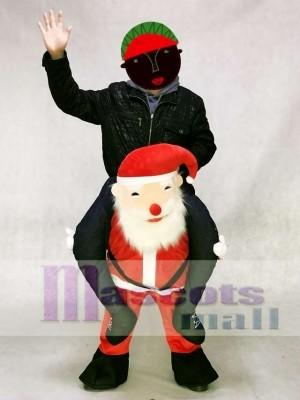 Santa Claus Carry Me Ride Piggyback Father Christmas Mascot Costume