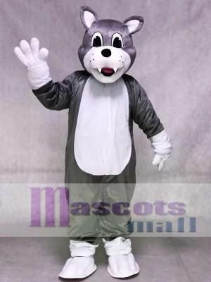 Gray Baby Husky Dog Mascot Costume Animal