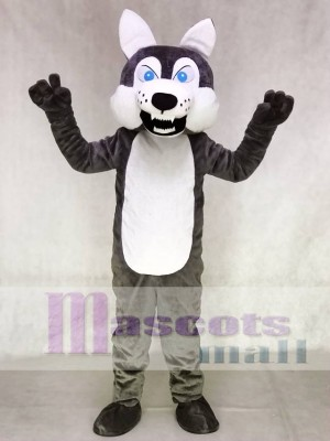Gray Wolf Mascot Adult Costume Animal
