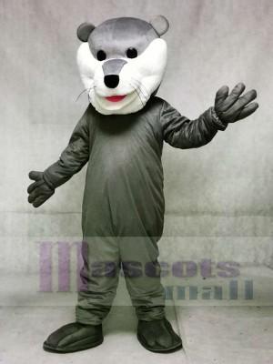 Grey Champ Otter Hockey Mascot Costumes Animal