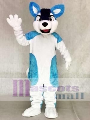 Blue Husky Dog Fursuit Adult Mascot Costume Animal