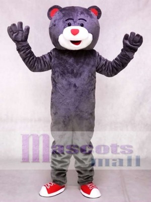 Grey Clutch the Bear Mascot Costume