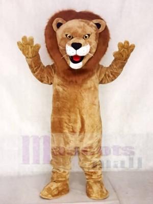 Realistic Animal Male Fierce Lion Mascot Costume