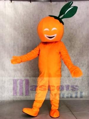 Smiling Navel Orange Mascot Costumes Fruit Plant